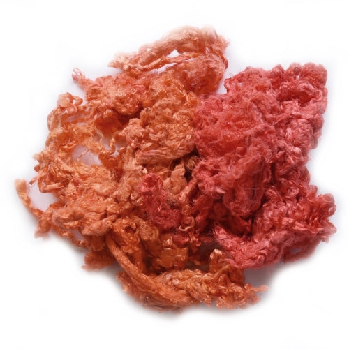 Mulberry Silk Throwster Waste Fibre Pink Orange 20 grams 12624| Silk Throwster | Sally Ridgway | Shop Wool, Felt and Fibre Online