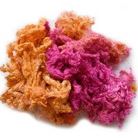 Mulberry Silk Throwster Waste Fibre Pink Orange Mix 20 grams 12620| Silk Throwster | Sally Ridgway | Shop Wool, Felt and Fibre Online
