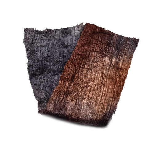Mulberry Silk Cocoon Sheet Fabric Hand Dyed Charcoal and Chocolate Brown 12791| Silk Cocoon Sheets | Sally Ridgway | Shop Wool, Felt and Fibre Online