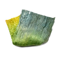 Mulberry Silk Cocoon Sheet Fabric Hand Dyed Daffodil Yellow Green 12793| Silk Cocoon Sheets | Sally Ridgway | Shop Wool, Felt and Fibre Online