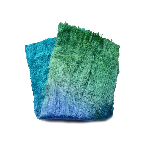 Mulberry Silk Cocoon Sheet Fabric Hand Dyed Sea Grass 12795| Silk Cocoon Sheets | Sally Ridgway | Shop Wool, Felt and Fibre Online