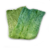 Mulberry Silk Cocoon Sheet Fabric Hand Dyed Spring Green Mix 12837| Silk Cocoon Sheets | Sally Ridgway | Shop Wool, Felt and Fibre Online