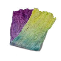 Mulberry Silk Cocoon Sheet Fabric Hand Dyed Rainbow Blend 12841| Silk Cocoon Sheets | Sally Ridgway | Shop Wool, Felt and Fibre Online