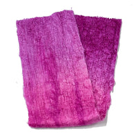Mulberry Silk Cocoon Sheet Fabric Hand Dyed Fuchsia 12843| Silk Cocoon Sheets | Sally Ridgway | Shop Wool, Felt and Fibre Online