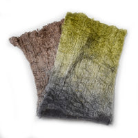 Mulberry Silk Cocoon Sheet Fabric Hand Dyed Green Brown Grey 12391| Silk Cocoon Sheets | Sally Ridgway | Shop Wool, Felt and Fibre Online