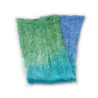 Mulberry Silk Cocoon Sheet Fabric Hand Dyed Blue Green Mix 12674| Silk Cocoon Sheets | Sally Ridgway | Shop Wool, Felt and Fibre Online
