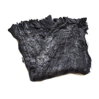 Mulberry Silk Cocoon Sheet Fabric Hand Dyed Dark Charcoal 12921| Silk Cocoon Sheets | Sally Ridgway | Shop Wool, Felt and Fibre Online