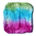 Silk Hankies Mawata Squares Hand Dyed Rainbow Mix 12274| Silk Hankies | Sally Ridgway | Shop Wool, Felt and Fibre Online