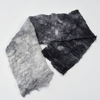 Mulberry Silk Noil Fibre Hand Dyed in Ash Cloud 12978| Silk Noil | Sally Ridgway | Shop Wool, Felt and Fibre Online