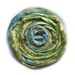 Mulberry Silk Roving Hand Dyed in Kelp Forest 20 Grams 12816| Silk Roving/Sliver | Sally Ridgway | Shop Wool, Felt and Fibre Online