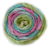 Mulberry Silk Roving Hand Dyed in Carnation 12966| Silk Roving/Sliver | Sally Ridgway | Shop Wool, Felt and Fibre Online