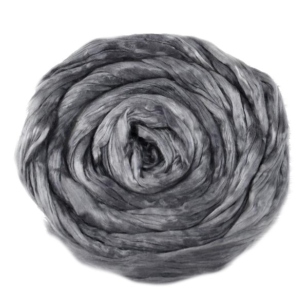 Mulberry Silk Roving Bombyx Silk Grey 20 Grams 12322| Silk Roving/Sliver | Sally Ridgway | Shop Wool, Felt and Fibre Online