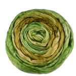 Mulberry Silk Roving Hand Dyed Spring Green 12204| Silk Roving/Sliver | Sally Ridgway | Shop Wool, Felt and Fibre Online