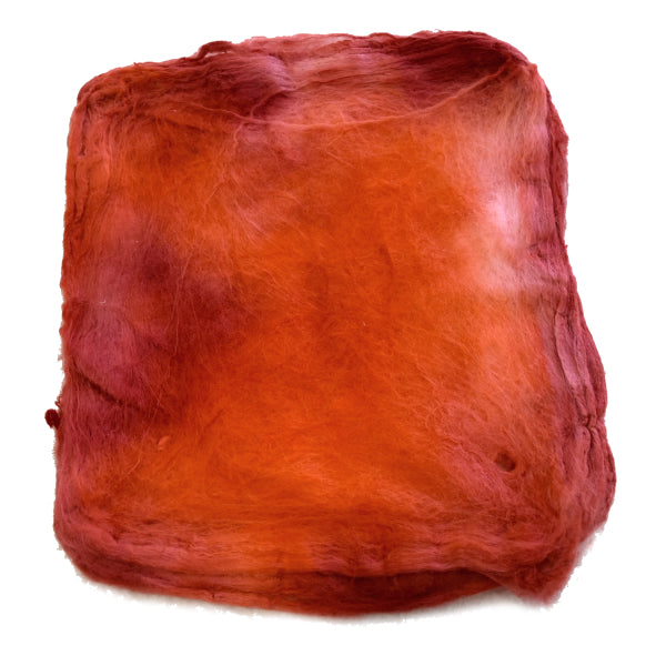 Mulberry Silk Hankies Hand Dyed Burnt Orange 13291| Silk Hankies | Sally Ridgway | Shop Wool, Felt and Fibre Online