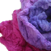 Mulberry Silk Noil Fibre Wild Berries 11917| Silk Noil | Sally Ridgway | Shop Wool, Felt and Fibre Online