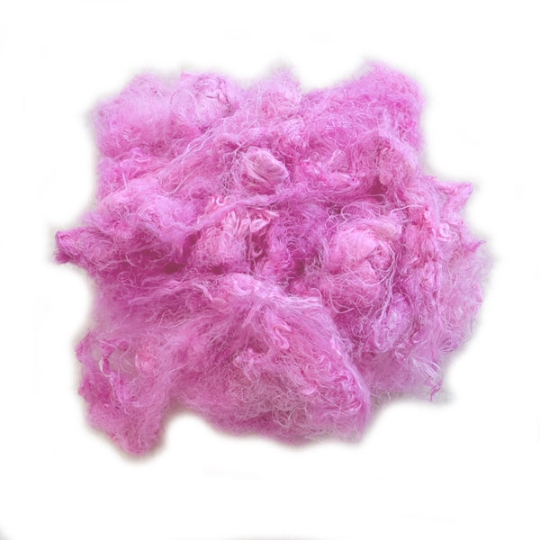 Mulberry Silk Throwster Waste Fibre in Coconut Ice 13295| Silk Throwster | Sally Ridgway | Shop Wool, Felt and Fibre Online