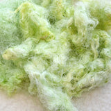 Mulberry Silk Throwster Waste Fibre Green Ice 13296| Silk Throwster | Sally Ridgway | Shop Wool, Felt and Fibre Online