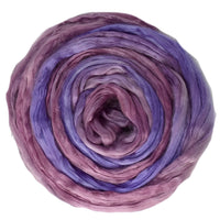 Mulberry Silk Roving Hand Dyed in Columbine 12967| Silk Roving/Sliver | Sally Ridgway | Shop Wool, Felt and Fibre Online