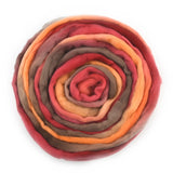 Australian Merino Wool Roving Combed Top Hand Dyed Burnt Orange 12648| Merino Wool Tops | Sally Ridgway | Shop Wool, Felt and Fibre Online