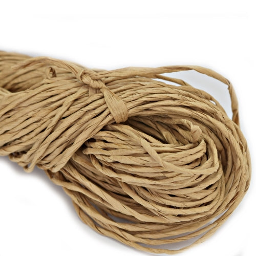 Paper Raffia Yarn Hand Spun Natural Ecru 85 Mt| Hand Spun Yarn | Sally Ridgway | Shop Wool, Felt and Fibre Online