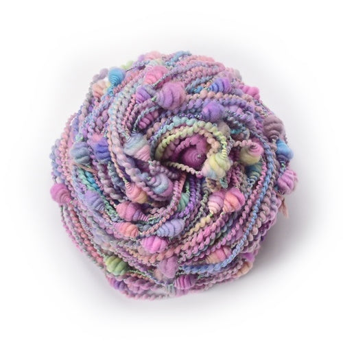 Beehive Coiled Art Yarn Hand Spun in Soft Purple Pink Pastels 12819| Hand Spun Yarn | Sally Ridgway | Shop Wool, Felt and Fibre Online