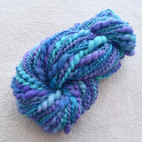 Custom Order For Tam. Opal, blue and purple thick and thin yarn| Hand Spun Yarn | Sally Ridgway | Shop Wool, Felt and Fibre Online