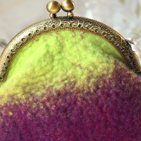 Purple Wool Felted Coin Purse or Jewellery Pouch 12361| Coin Purse | Sally Ridgway | Shop Wool, Felt and Fibre Online