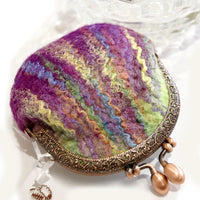 Purple Wool Felted Small Money Purse 12359| Coin Purse | Sally Ridgway | Shop Wool, Felt and Fibre Online