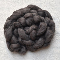 Corriedale and merino wool top roving in dark grey | Shop wool roving online