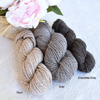 Chocolate Grey Merino and Corriedale Combed Wool Top ABP 17| Undyed Wool Roving Top | Sally Ridgway | Shop Wool, Felt and Fibre Online
