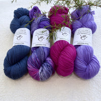 4 ply Supreme Sock Yarn Hand Dyed Dark Denim 13173| Sock Yarn | Sally Ridgway | Shop Wool, Felt and Fibre Online