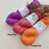 4 ply Supreme Sock Yarn Hand Dyed Tangerine 13282| Sock Yarn | Sally Ridgway | Shop Wool, Felt and Fibre Online