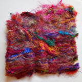 Sari Silk Recycled Fibre Multi Colour 30 grams| Sari Silk | Sally Ridgway | Shop Wool, Felt and Fibre Online