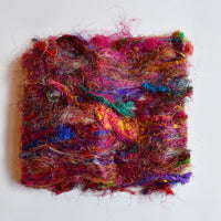 Sari Silk Recycled Fibre Multi Colour 40 grams| Sari Silk | Sally Ridgway | Shop Wool, Felt and Fibre Online