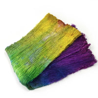 Silk Cocoon Sheet Fabric Hand Dyed Rainbow Mix 12603| Silk Cocoon Sheets | Sally Ridgway | Shop Wool, Felt and Fibre Online