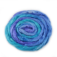 Silk Roving Hand Dyed Blue Mix 20 Grams 12595| Silk Roving/Sliver | Sally Ridgway | Shop Wool, Felt and Fibre Online