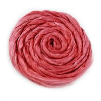 Silk Roving Hand Dyed Coral 20 Grams 12598| Silk Roving/Sliver | Sally Ridgway | Shop Wool, Felt and Fibre Online