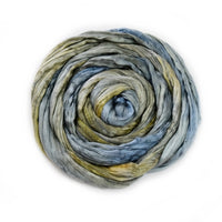 Silk Roving Hand Dyed Iron Steel 20 Grams 12599| Silk Roving/Sliver | Sally Ridgway | Shop Wool, Felt and Fibre Online