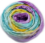 Silk Roving for Spinning and Felting Rainbow 20 grams 12589| Silk Roving/Sliver | Sally Ridgway | Shop Wool, Felt and Fibre Online