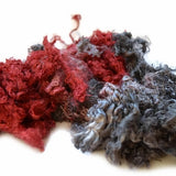 Silk Throwsters Waste Fibre Red Charcoal Mix 20 grams 12347| Silk Throwster | Sally Ridgway | Shop Wool, Felt and Fibre Online