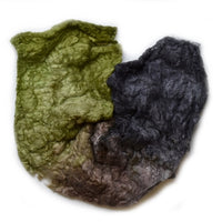 Mulberry Silk Noil Fibre Hand Dyed in Earthy Colours 12667| Silk Noil | Sally Ridgway | Shop Wool, Felt and Fibre Online