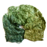 Mulberry Silk Noil Fibre Hand Dyed in Forest Green 12665| Silk Noil | Sally Ridgway | Shop Wool, Felt and Fibre Online