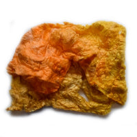 Mulberry Silk Noil Fibre Hand Dyed in Sunshine Yellow Mix 12263| Silk Noil | Sally Ridgway | Shop Wool, Felt and Fibre Online