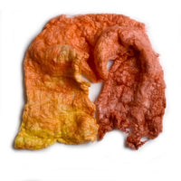Mulberry Silk Noil Fibre Hand Dyed in Burnt Orange Blend 12262| Silk Noil | Sally Ridgway | Shop Wool, Felt and Fibre Online