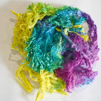 Mulberry Silk Throwster Fibre in Rainbow 12867| Silk Throwster | Sally Ridgway | Shop Wool, Felt and Fibre Online