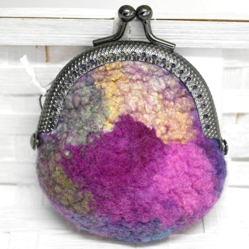 Small Wool Felted Coin Purse Backpack or Handbag Purse 12549| Coin Purse | Sally Ridgway | Shop Wool, Felt and Fibre Online