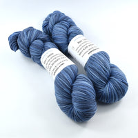 Sock Yarn 4 Ply Australian Merino Wool Knitting Yarn Hand Dyed Denim Blue 12696| Sock Yarn | Sally Ridgway | Shop Wool, Felt and Fibre Online