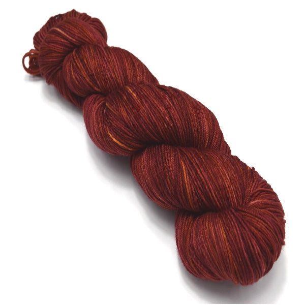 Sock Yarn 4 Ply Australian Merino Wool Knitting Yarn Hand Dyed Rich Red 12750| Sock Yarn | Sally Ridgway | Shop Wool, Felt and Fibre Online