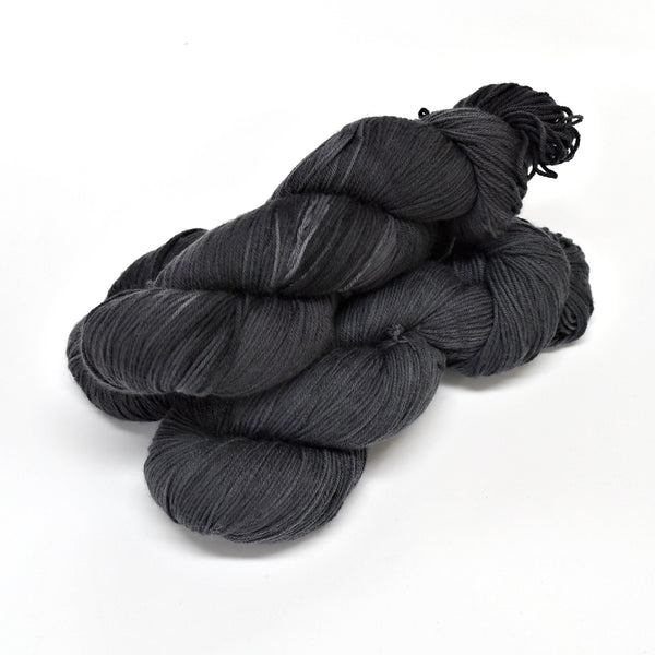Sock Yarn 4 Ply Australian Merino Wool Knitting Yarn Hand Dyed Charcoal 12694| Sock Yarn | Sally Ridgway | Shop Wool, Felt and Fibre Online