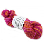 Sock Yarn 4 Ply Australian Merino Wool Pink Red Orange Mix 12534| Sock Yarn | Sally Ridgway | Shop Wool, Felt and Fibre Online